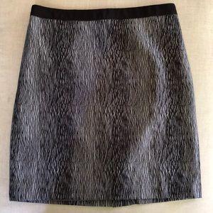Ann Taylor 8 Gray Lined Career Skirt Midi NWOT
